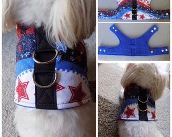 Star Print Dog Vest Harness for Small Breed Dogs or Cats