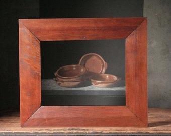 Mahogany picture frame, antique wooden frame, vintage wooden frame
