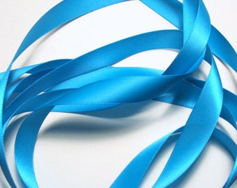 "5/8"" Double-Faced Satin Ribbon - Turquoise"