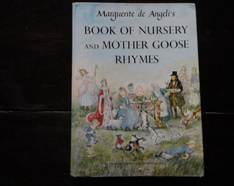 Vintage Children's Book 1954 Marguerite de Angeli's Book of Nursery and Mother Goose Rhymes Hardcover Illustrated Caldecott