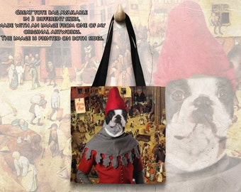Dog Tote Bag - Boston Terrier Tote Bag - Boston Terrier Art - Boston Terrier Gifts - Boston Terrier NEW Collection by Nobility Dogs