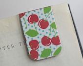 Magnetic Bookmark Laminated Red Cherry Polka Dot Dots Blue Green Fresh Fruit Teacher Gift Christmas Stocking Stuffer Student College