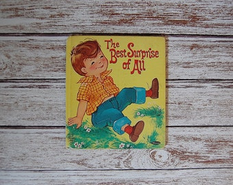 Vintage Kids Book, Whitman Book, The Best Surprise of All, Tell-a-Tale Book, Little Boy Book
