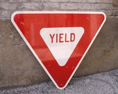 Road Sign, Caution Sign, Yield Sign, Street Sign, Traffic Sign, Play Room, Garden Decor, Yard Art, Driveway Sign, Kids Room, Triangle Sign