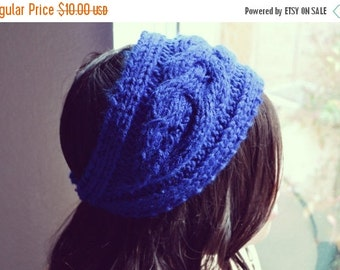 VALENTINES DAY SALE Midnight Blue Knit Headband