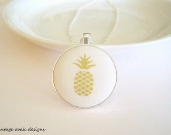 Pineapple Necklace,Pineapple Button Necklace,Pineapple Jewelry, Pineapple Accessories, Pineapple Pendent, Pineapple Necklace, Summer Jewelry
