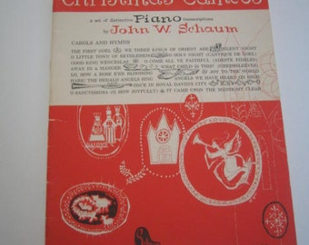 Christmas Cameos For the Piano by John W. Schaum Vintage 1959  In good condition
