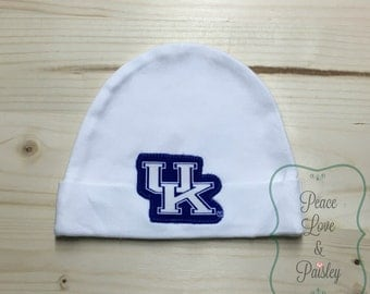 Kentucky Wildcats Baby Hat Made from Kentucky Wildcats Fabric, Wildcats Baby, KY Baby, Baby Wildcats, Baby Shower Gift, New Baby Gift