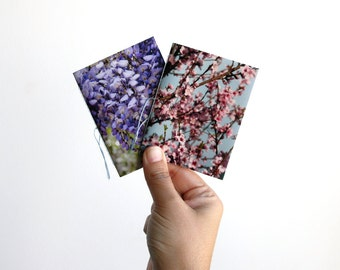 Floral pocket notebooks, mini notebooks, notebook set, journal notebook, mini journal, small notebook, blank notebook, photography cover