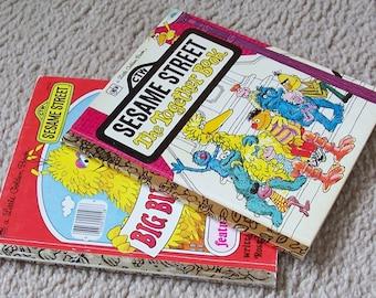 2 Vintage Sesame Street A Little Golden Books - 1976, 1977