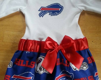 Buffalo Bills inspired baby girl outfitl