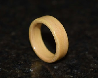 20% Off READY TO SHIP size 5 Hand Made (Bentwood Method) Beech Wooden Ring
