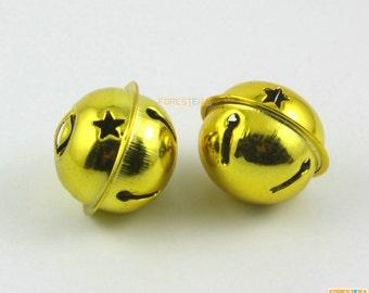 15Pcs 30mm Gold Bells Jingle Bells Christmas Bells Pet Bells (JSWXLD30)
