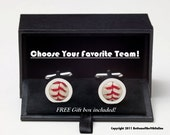 Pick Your Team -  Game Used Baseball Cufflinks w/ GIFT BOX Included