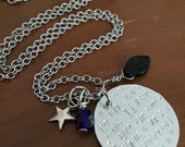 To The Stars Who Listen Necklace:  A Court of Mist and Fury Inspired Hand Stamped Pendant with Stainless Steel and Star