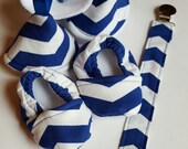 Newborn Boys Blue Chevron Gift Seet
