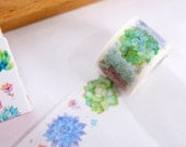 Feature of the Succulent - Japanese Washi Masking Tape - 30mm Wide - 11 Yards