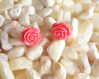 Sailor Jupiter Earrings. Pink Rose Earrings.
