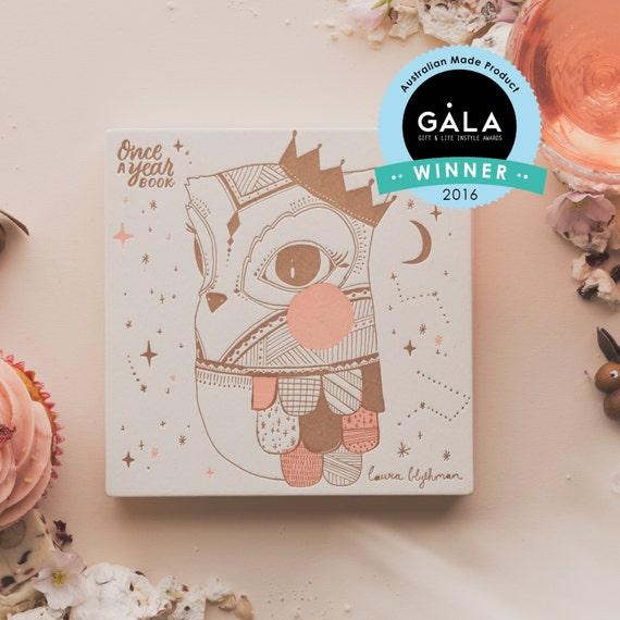 baby journal album owl keepsake book makeforgood