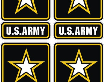 4x US Army logo Military Stickers for Laptop Book Fridge Guitar Motorcycle Helmet ToolBox Door PC Boat
