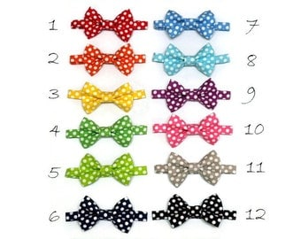 Boys Polka Dot Bowtie Baby Infant Toddler Bow tie Photo Prop