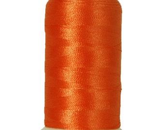 No. 112 (Texas Orange) 5000m Polyester Spool of Embroidery Machine Thread
