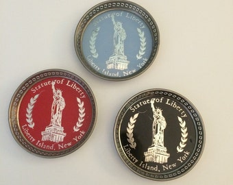 Vintage Statue of Liberty Drink Coasters Souviner
