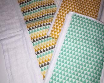 Aztec Cloth Diaper Burp Cloths with FREE Diaper Band