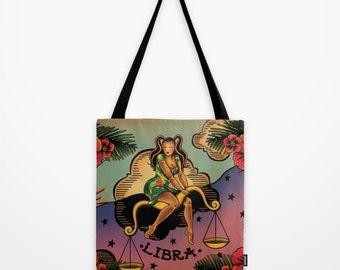 Tattoo Libra Tote Bag