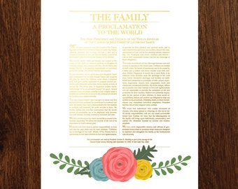 The Family: A Proclamation to the World 11x14 Printable