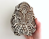 Large Flower Stamp, Hand Carved Wood Stamp, Indian Printing Block Stamp, Floral Stamp, Textiles, Ceramics, Pottery, Bohemian Decor, India