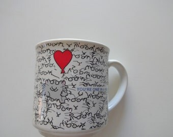 Vintage One In A Million Coffee Mug By Sandra Boynton 1980s