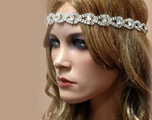 Bridal hair accessory, bridal headband, rhinestone headband, Crystal headband, bridal Sash, wedding hair accessory