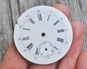 1.5 inch Antique porcelain pocket watch face,dial.