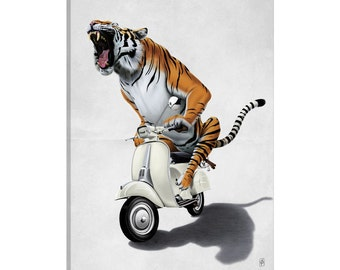 iCanvas Rooooaaar! I Gallery Wrapped Canvas Art Print by Rob Snow
