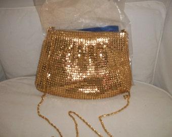 Vintage Avon Gold Tone Mesh Evening Bag