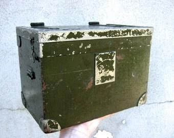 Mid Century Wooden Telephone Box