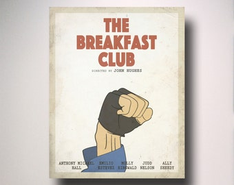 The Breakfast Club Minimalist Movie Poster / Wall Art / Movie Film Poster