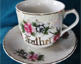Huge Vintage FATHER Cup and Saucer