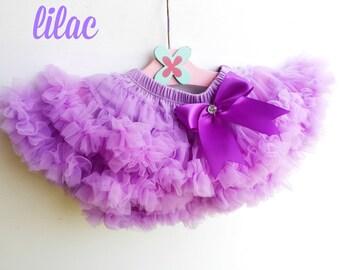 Lilac Lavender Chiffon Ruffle Baby Pettiskirt Bloomer