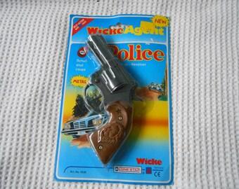 Mini Cap Gun Shabby Chic Gun shaped Novelty Packaged 1980s Toy