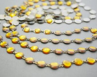 Topaz Metal Link Necklace Set Vintage Necklace Set