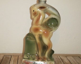 Art Deco Ram Liquor Decanter Beam Kentucky Straight C. Miller 58