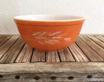 Vintage Orange Harvest Pyrex Bowl 403