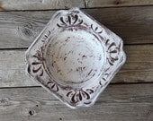 Carved Painted Wooden Bowl
