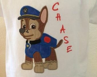 Chase Paw Patrol Applique Shirt