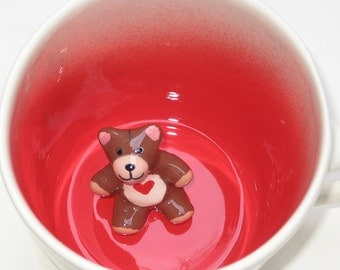 Valentine Teddy Bear  (In Stock)