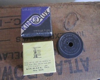 Unused New Old Stock Kin-O-Lux 8 mm Film in original box. Collectible. Feb 1945