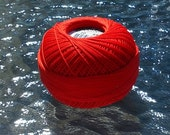 Tatting Thread - Size 20 - Lizbeth - Handy Hands - Poppy Red Solid - Color 669 - Your Choice of Amount