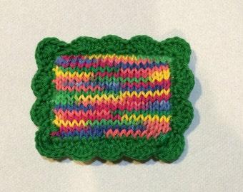 Knit Dishcloth / Knitted Scrubbie / Knit Pot Scrubber / Dish Scrubbie / Knitted Dishcloth / Sponge / Nylon Scrubbie / Scrubber / Rainbow